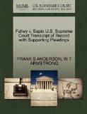 Fahey v. Sapio U.S. Supreme Court Transcript of Record with Supporting Pleadings