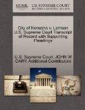 City of Kenosha v. Lamson U.S. Supreme Court Transcript of Record with Supporting Pleadings