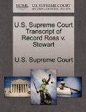 U.S. Supreme Court Transcript of Record Ross v. Stewart