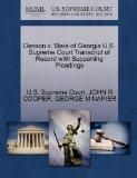 Denson v. State of Georgia U.S. Supreme Court Transcript of Record with Supporting Pleadings