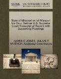 State of Missouri ex rel Missouri Ins Co v. Gehner U.S. Supreme Court Transcript of Record w...