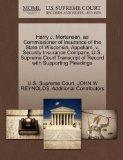 Harry J. Mortensen, as Commissioner of Insurance of the State of Wisconsin, Appellant, v. Se...