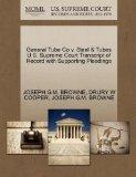 General Tube Co v. Steel & Tubes U.S. Supreme Court Transcript of Record with Supporting Ple...