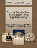Schnerb v. Caterpillar Tractor Co U.S. Supreme Court Transcript of Record with Supporting Pl...
