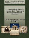 U S v. Bonwit Teller & Co U.S. Supreme Court Transcript of Record with Supporting Pleadings