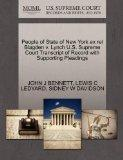 People of State of New York ex rel Blagden v. Lynch U.S. Supreme Court Transcript of Record ...