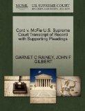 Cord v. McFie U.S. Supreme Court Transcript of Record with Supporting Pleadings