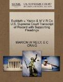 Sudduth v. Yazoo & M V R Co U.S. Supreme Court Transcript of Record with Supporting Pleadings