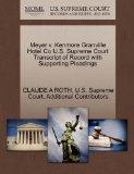 Meyer v. Kenmore Granville Hotel Co U.S. Supreme Court Transcript of Record with Supporting ...