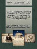 Landis v. American Water Works & Electric Co.; Landis v. North American Co. U.S. Supreme Cou...