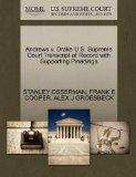 Andrews v. Drake U.S. Supreme Court Transcript of Record with Supporting Pleadings