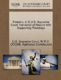 Powell v. U S U.S. Supreme Court Transcript of Record with Supporting Pleadings