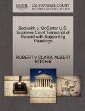 Beckwith v. McCarter U.S. Supreme Court Transcript of Record with Supporting Pleadings