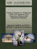 Fidelity & Deposit Co of Maryland v. Pink U.S. Supreme Court Transcript of Record with Suppo...
