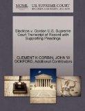 Blackton v. Gordon U.S. Supreme Court Transcript of Record with Supporting Pleadings