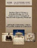 Sanitary Dist of Chicago v. Activated Sludge, Inc. U.S. Supreme Court Transcript of Record w...