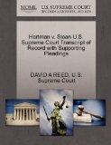 Hartman v. Sloan U.S. Supreme Court Transcript of Record with Supporting Pleadings