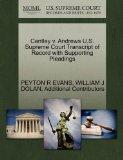 Cantley v. Andrews U.S. Supreme Court Transcript of Record with Supporting Pleadings