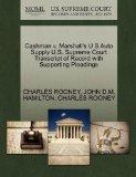 Cashman v. Marshall's U S Auto Supply U.S. Supreme Court Transcript of Record with Supportin...
