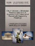 City of Jackson v. Mississippi Power & Light Co U.S. Supreme Court Transcript of Record with...