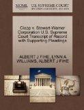 Clapp v. Stewart-Warner Corporation U.S. Supreme Court Transcript of Record with Supporting ...