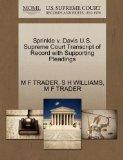 Sprinkle v. Davis U.S. Supreme Court Transcript of Record with Supporting Pleadings
