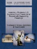 Haskins v. Rosberry U.S. Supreme Court Transcript of Record with Supporting Pleadings