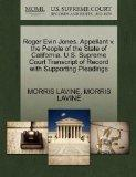 Roger Evin Jones, Appellant v. the People of the State of California. U.S. Supreme Court Tra...