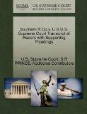 Southern R Co v. U S U.S. Supreme Court Transcript of Record with Supporting Pleadings