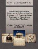 Edward George Robison, Petitioner, v. Florence Krumm Robison. U.S. Supreme Court Transcript ...