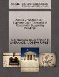 Andrus v. Whitman U.S. Supreme Court Transcript of Record with Supporting Pleadings