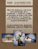 Glenn M. Anderson, Lyle Cook, Jack Goldberger, et al., Appellants, v. Frank M. Jordan, as Se...