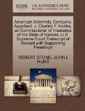 American Indemnity Company, Appellant, v. Charles F. Hobbs, as Commissioner of Insurance of ...
