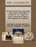 Herman Greenberg, Appellant, v. the People of the State of California. U.S. Supreme Court Tr...