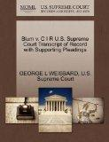 Blum v. C I R U.S. Supreme Court Transcript of Record with Supporting Pleadings