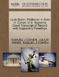 Louis Bunin, Petitioner, v. Alvin H. Cohen. U.S. Supreme Court Transcript of Record with Sup...