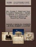 Mrs. George C. Wright and Virgil M. Guthrie, Petitioners, v. William P. Mitchell. U.S. Supre...