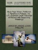 Myra Page Wiren, Petitioner, v. Paramount Pictures, Inc. U.S. Supreme Court Transcript of Re...