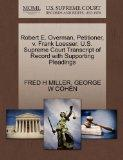 Robert E. Overman, Petitioner, v. Frank Loesser. U.S. Supreme Court Transcript of Record wit...