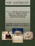 F C C v. Allentown Broadcasting Corp U.S. Supreme Court Transcript of Record with Supporting...