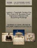 Lardner v. Twentieth Century-Fox Film Corp U.S. Supreme Court Transcript of Record with Supp...