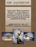 Great Lakes Steel Corporation, Petitioner, v. United States of America, Interstate Commerce ...