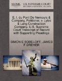 E. I. du Pont De Nemours & Company, Petitioner, v. Lyles & Lang Construction Company. U.S. S...