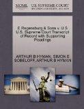 E Regensburg & Sons v. U S U.S. Supreme Court Transcript of Record with Supporting Pleadings