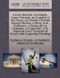 Leona Holcomb, Individually, Leona Holcomb, as Guardian of the Person and Estate of Donald G...