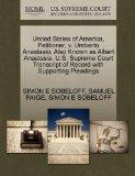 United States of America, Petitioner, v. Umberto Anastasio, Also Known as Albert Anastasia. ...