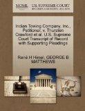 Indian Towing Company, Inc., Petitioner, v. Thurston Crawford et al. U.S. Supreme Court Tran...