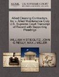 Allied Cleaning Contractors, Inc v. Allied Maintenance Corp U.S. Supreme Court Transcript of...