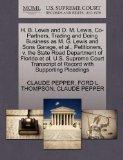 H. B. Lewis and D. M. Lewis, Co-Partners, Trading and Doing Business as M. G. Lewis and Sons...