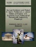 Samuel Goldstein and Robert D. Quirk, Petitioners, v. United States of America. U.S. Supreme...
